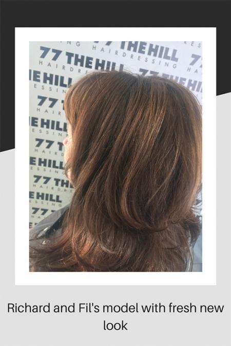 Hair model's fresh new look