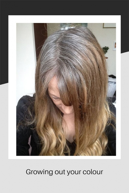 Growing out hair colouring