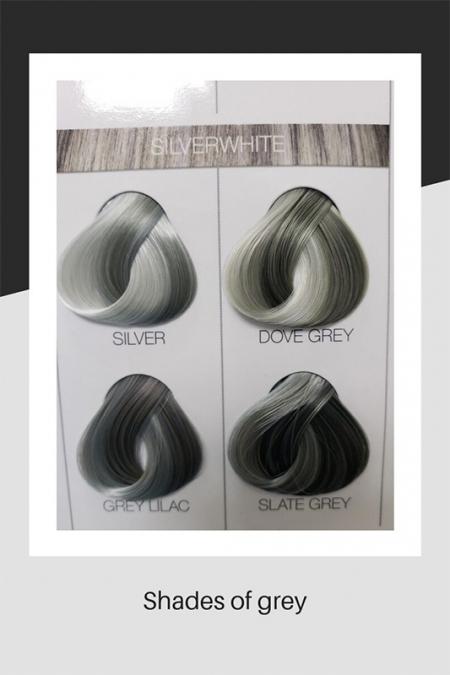 Shades of grey hair colour