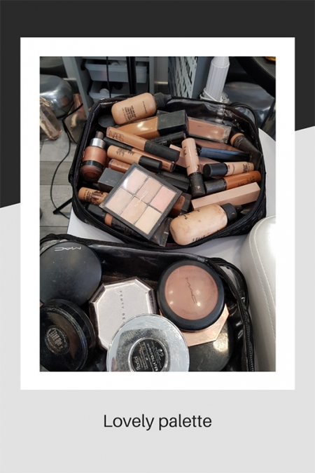 Lovely palette of makeup colours