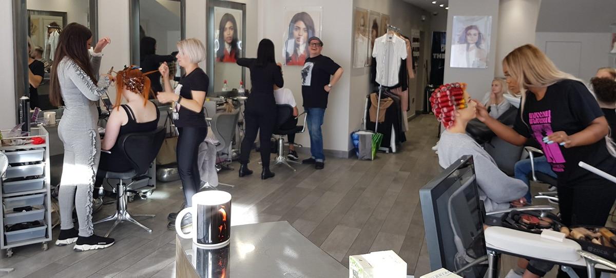 Hair salon photo shoot!