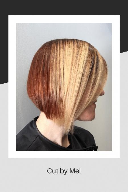 Hair cut by Mel