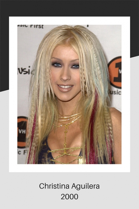 Christina Aguilera hair in 2000