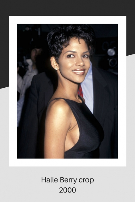 Halle Berry cropped hair 2000