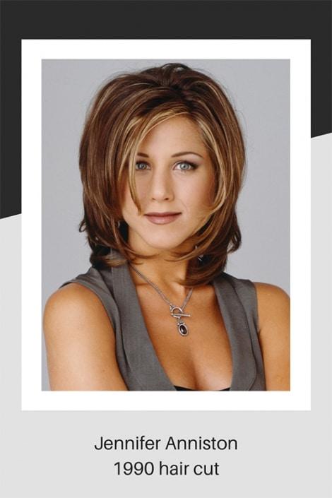 Jennifer Anniston hair cut in 1990