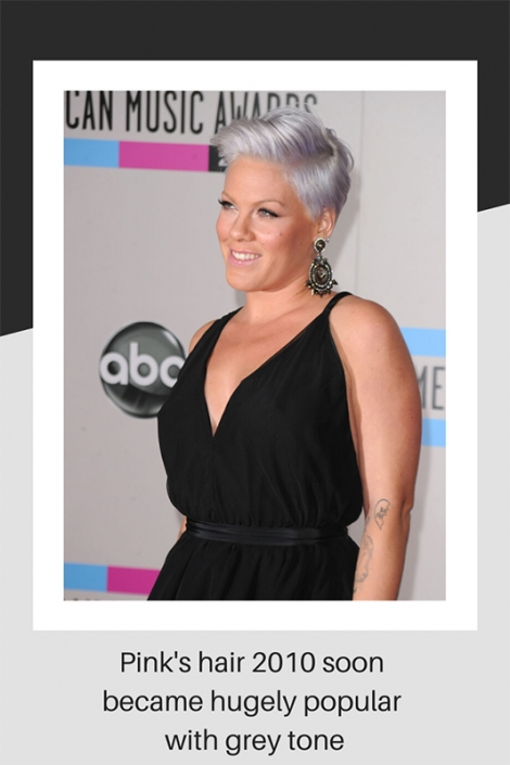 Pink's hair style in 2010