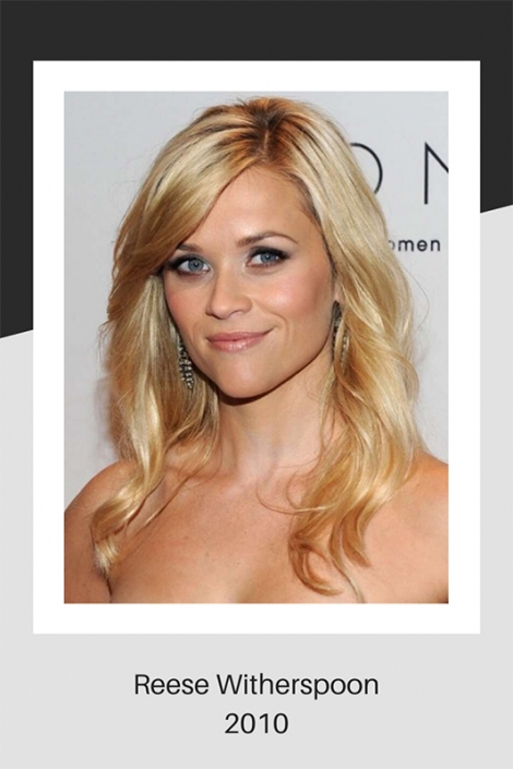 Reece Witherspoon hair in 2010