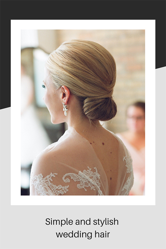 Simple and stylish wedding hair