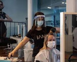 Hair salon re-opening