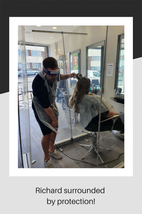 PPE in a hair salon
