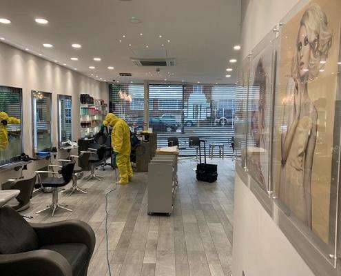 Deep cleaning our hair salon