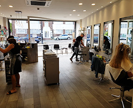 Hair salon in Enfield re-opens