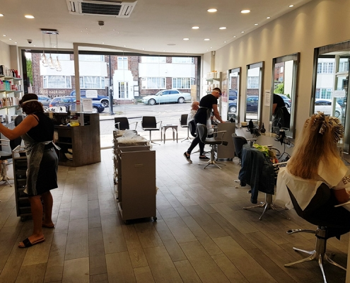 Our hair salon re-opens