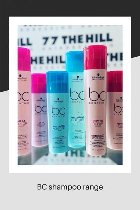BC Shampoo range