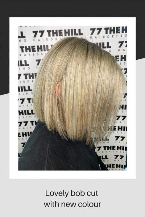 Bob haircut with new colour