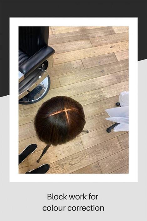 Hair colour correction block work