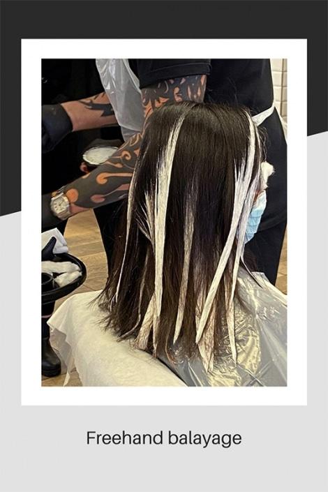 Freehand Balayage hair