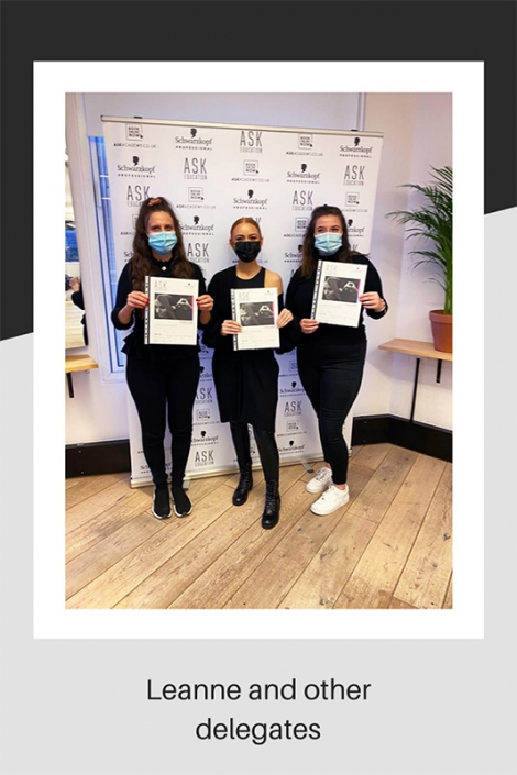 Three hair stylists on their course