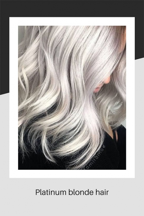 Platinum blonde hair colouring