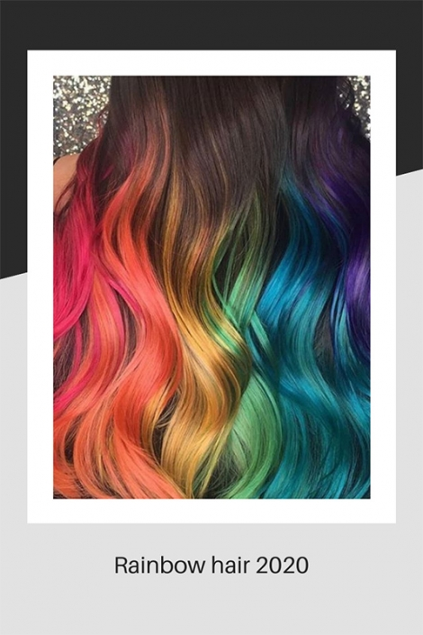 Rainbow hair colouring