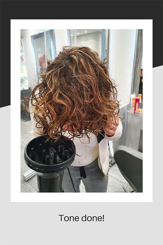 Finished hair toner
