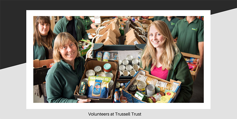 Volunteers at Trussell Trust