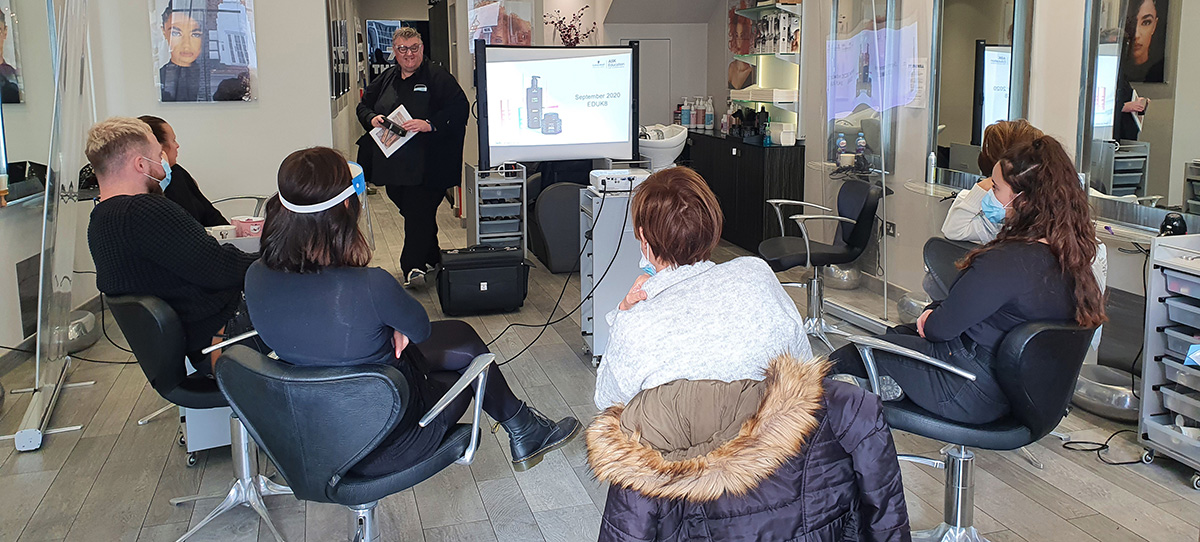 Training in the salon with Jamie Farrar
