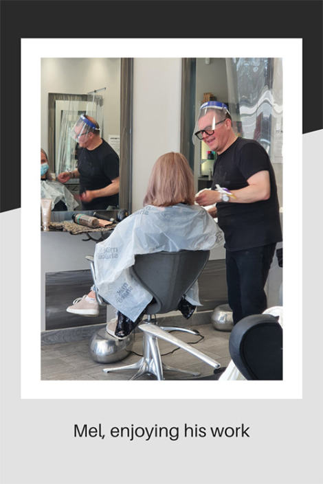 Our salon director at work