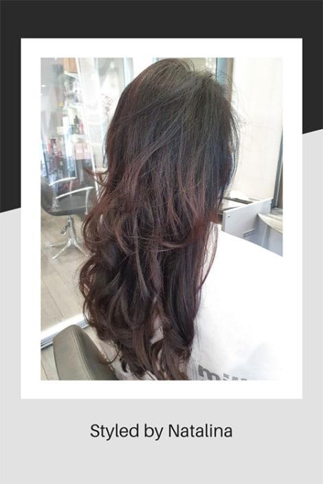 Hair styled by Natalina