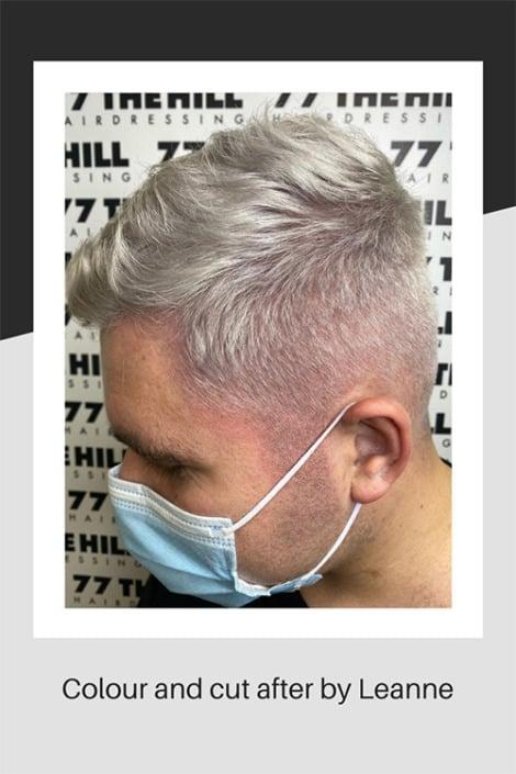 Mens hair colouring and cut