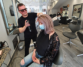 Mel, our salon director