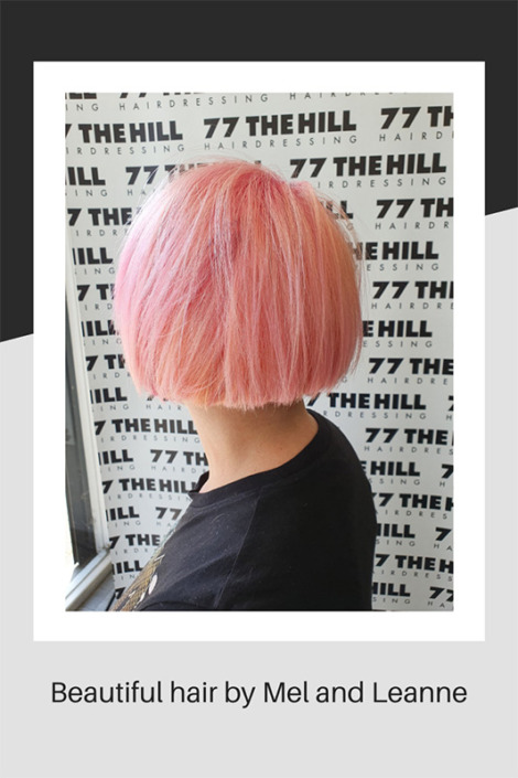 Beautiful hair cut and colouring by Mel and Leanne
