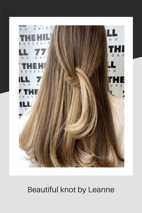 A beautiful hair knot