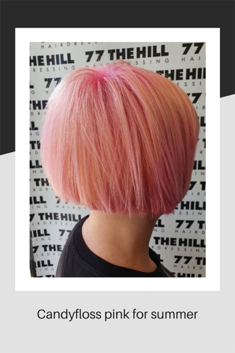 Candyfloss pink colouring for summer