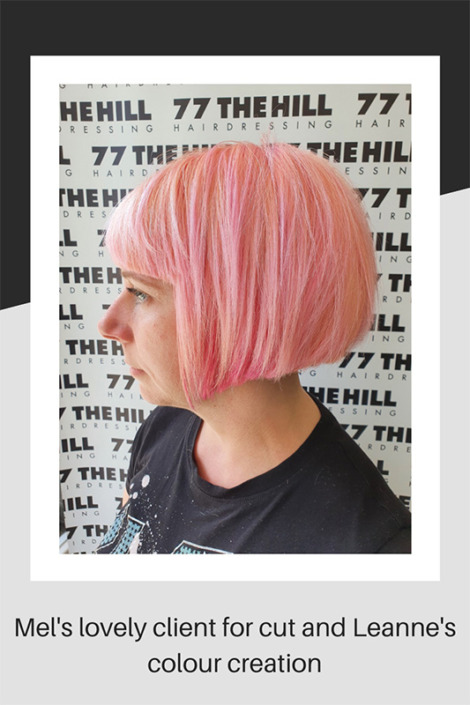 Candyfloss hair colouring for summer
