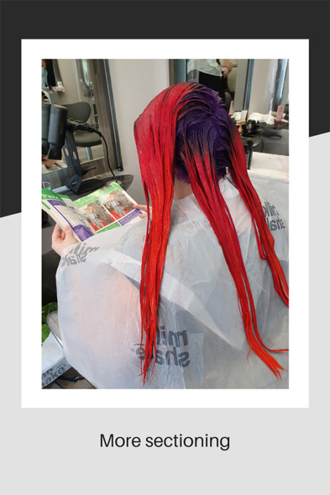 More hair sectioning for colouring
