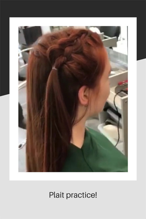 Hair being put in plaits