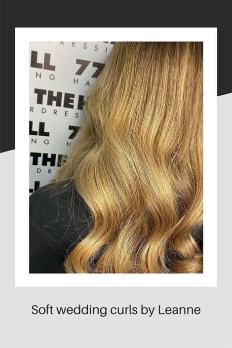 Soft wedding hair curls