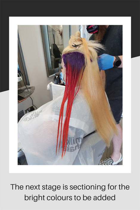 Hair sectioning for bright colours