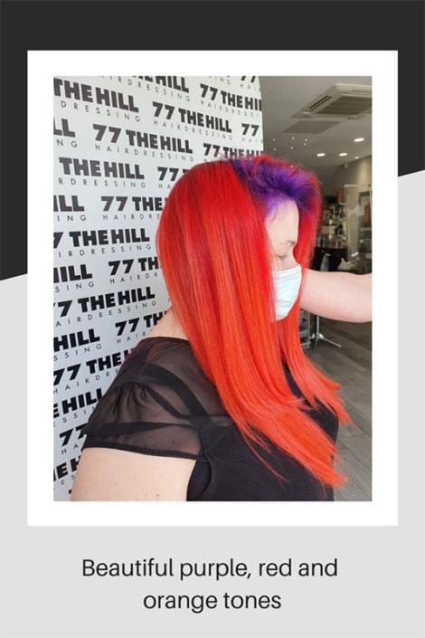 Bright mixed hair tones