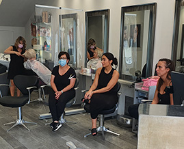 Training new techniques to our salon staff