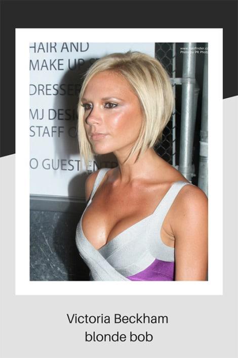 Victoria Beckham's blonde bob hairstyle