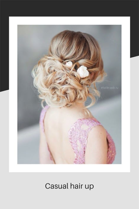 Casual hair up for weddings