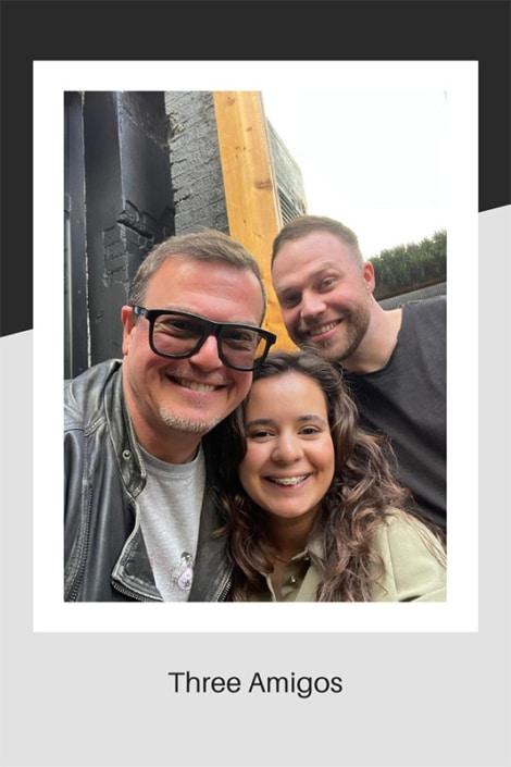 Three hairdressing Amigos