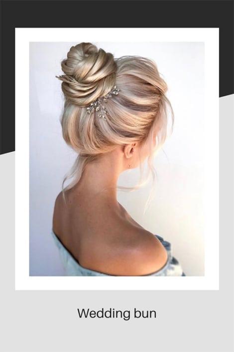 Wedding hair in a bun